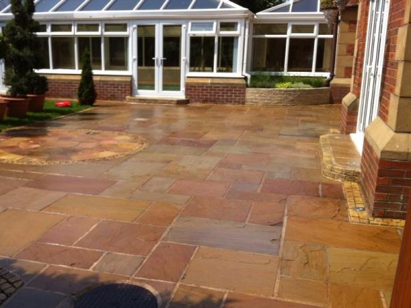 Block paving installed to the rear of a Blackpool home.