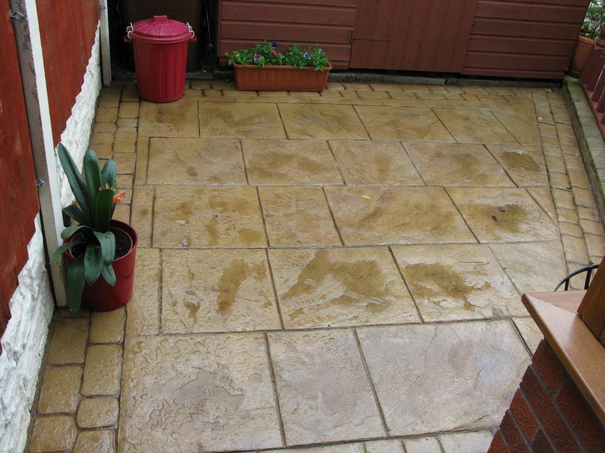 An example in Blackpool of turning a small unusable area into an attractive patio space for summer BBQs, etc..